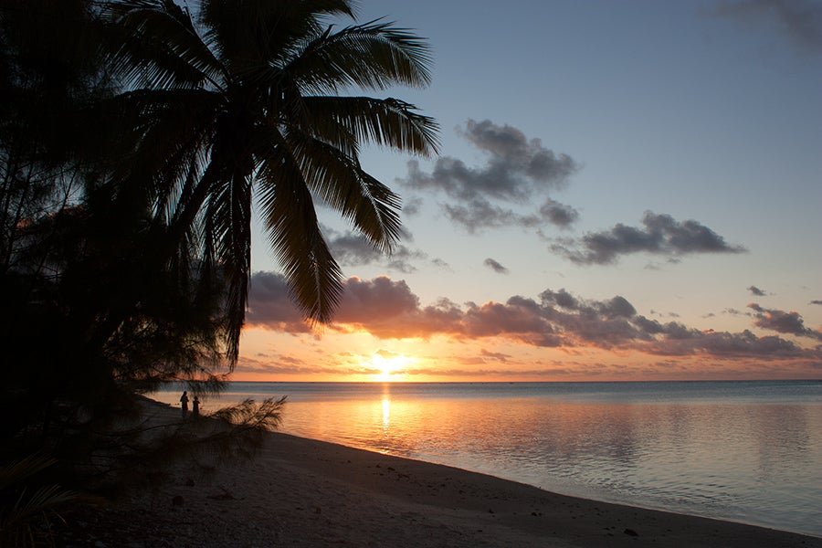 Sunset in Aitutaki