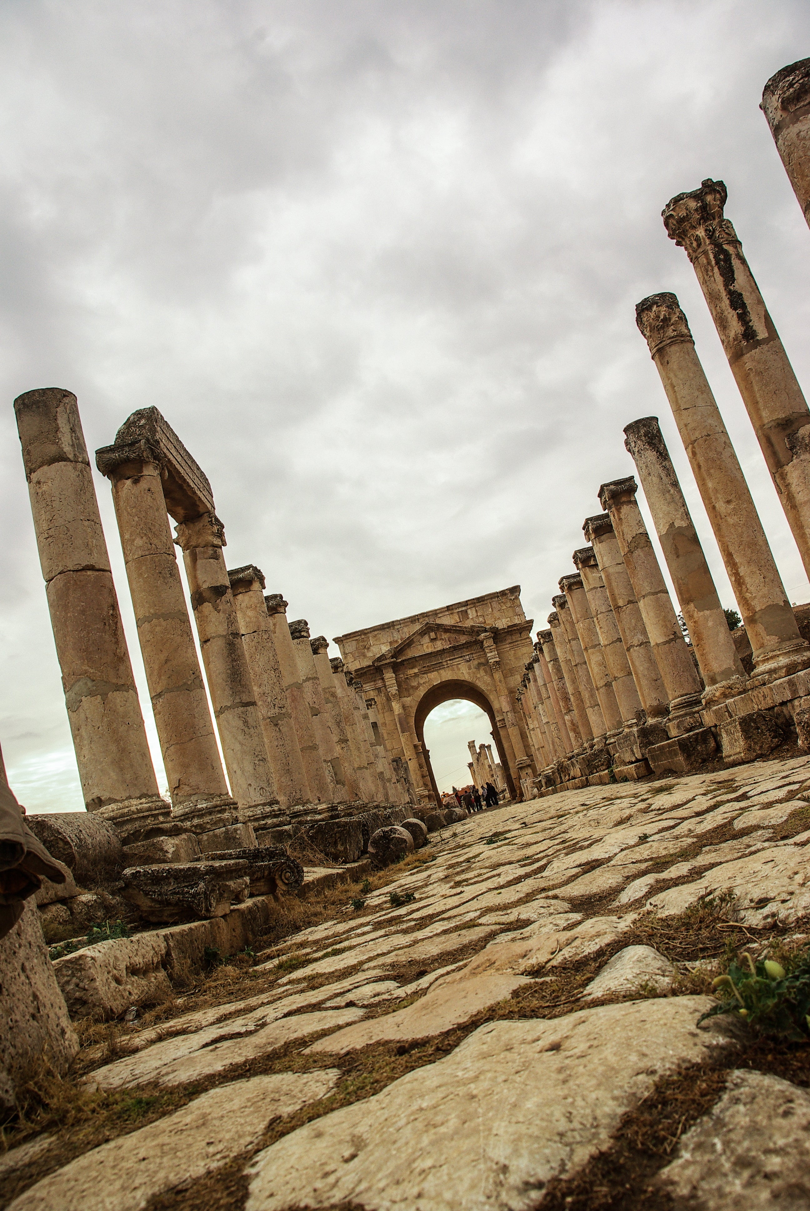Pared en Jerash