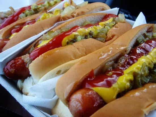 Food in Genny's Hot Dog