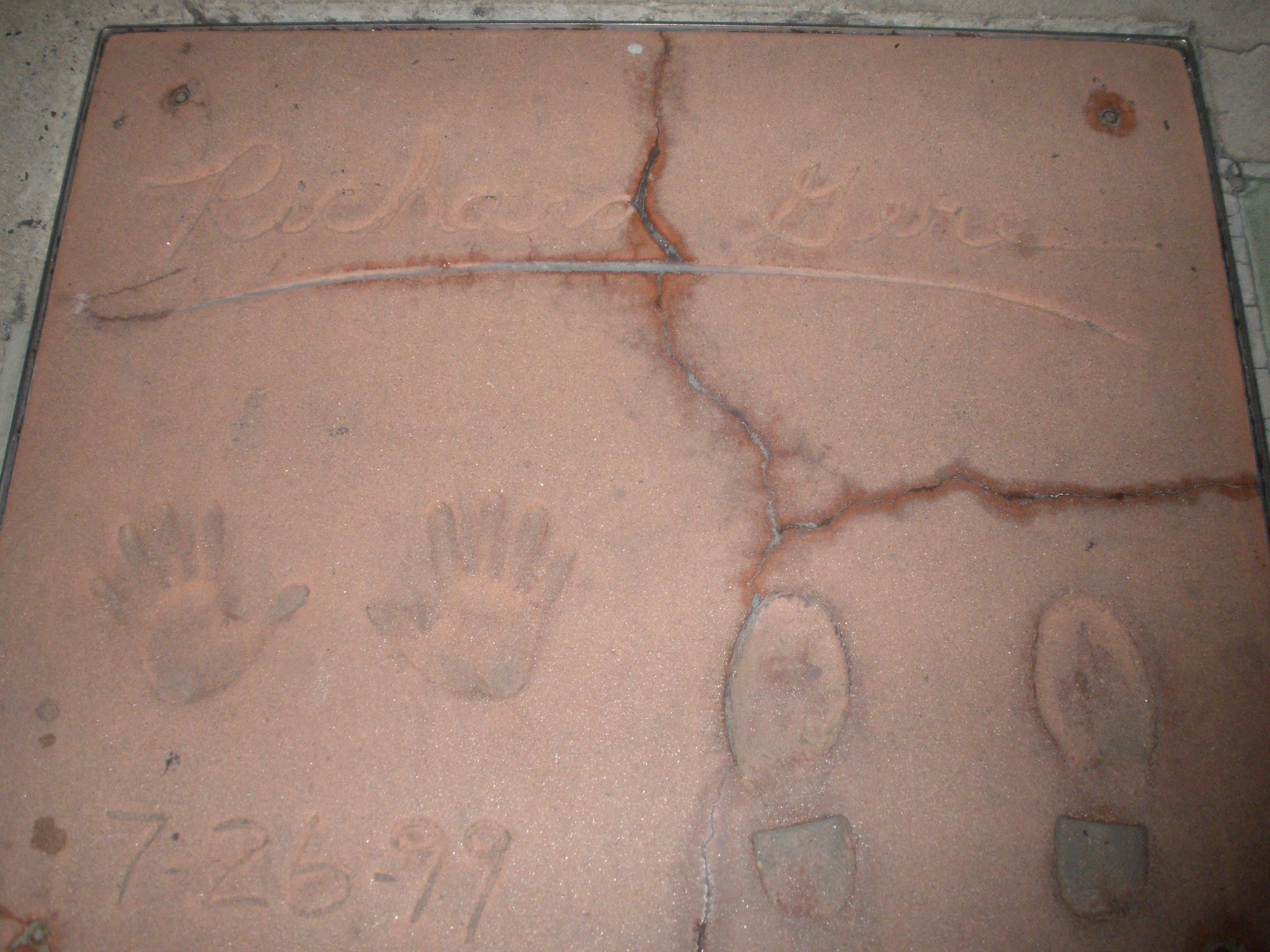 Suelo en Grauman's Chinese Theatre