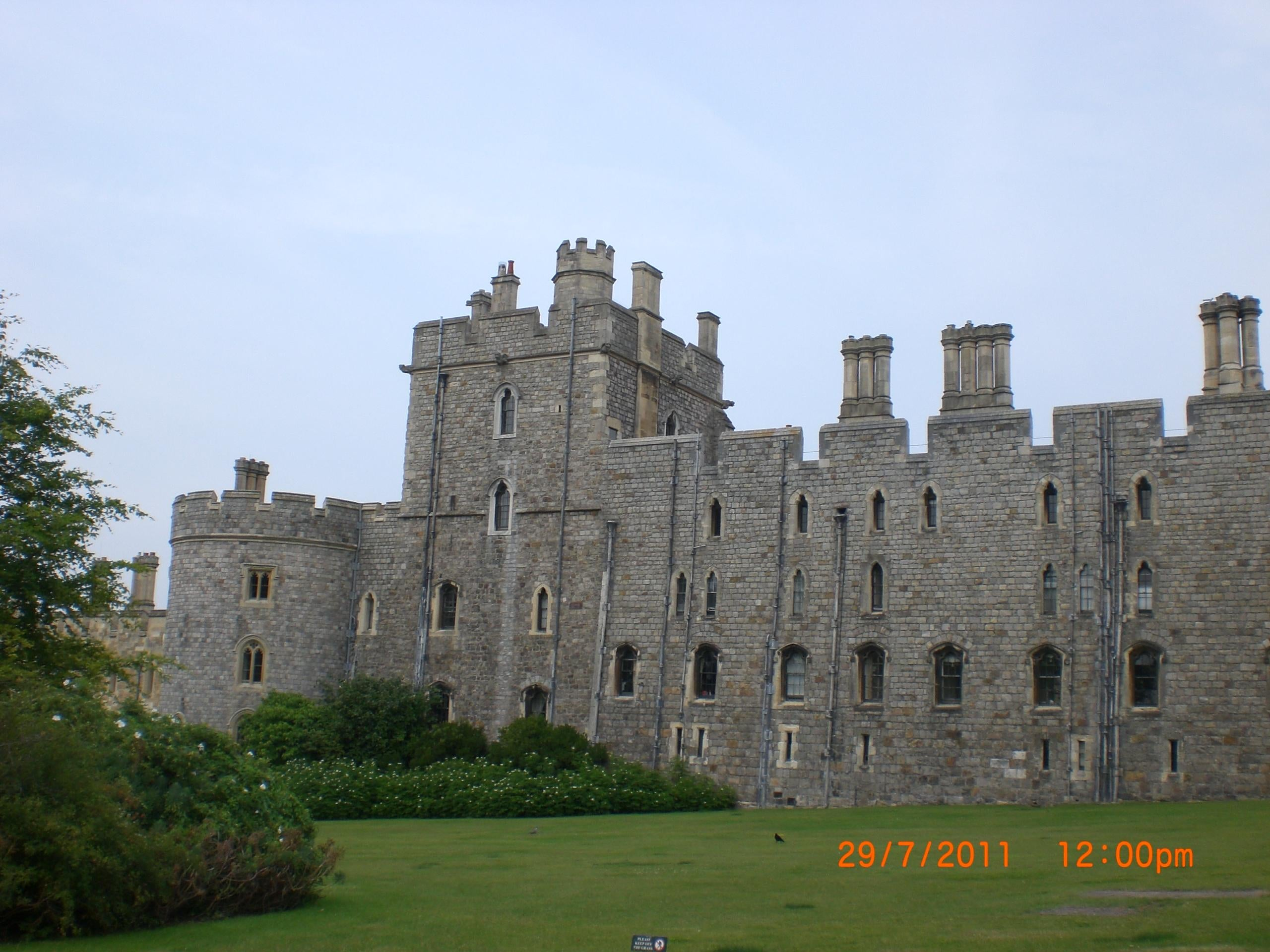 Césped en Castillo de Windsor