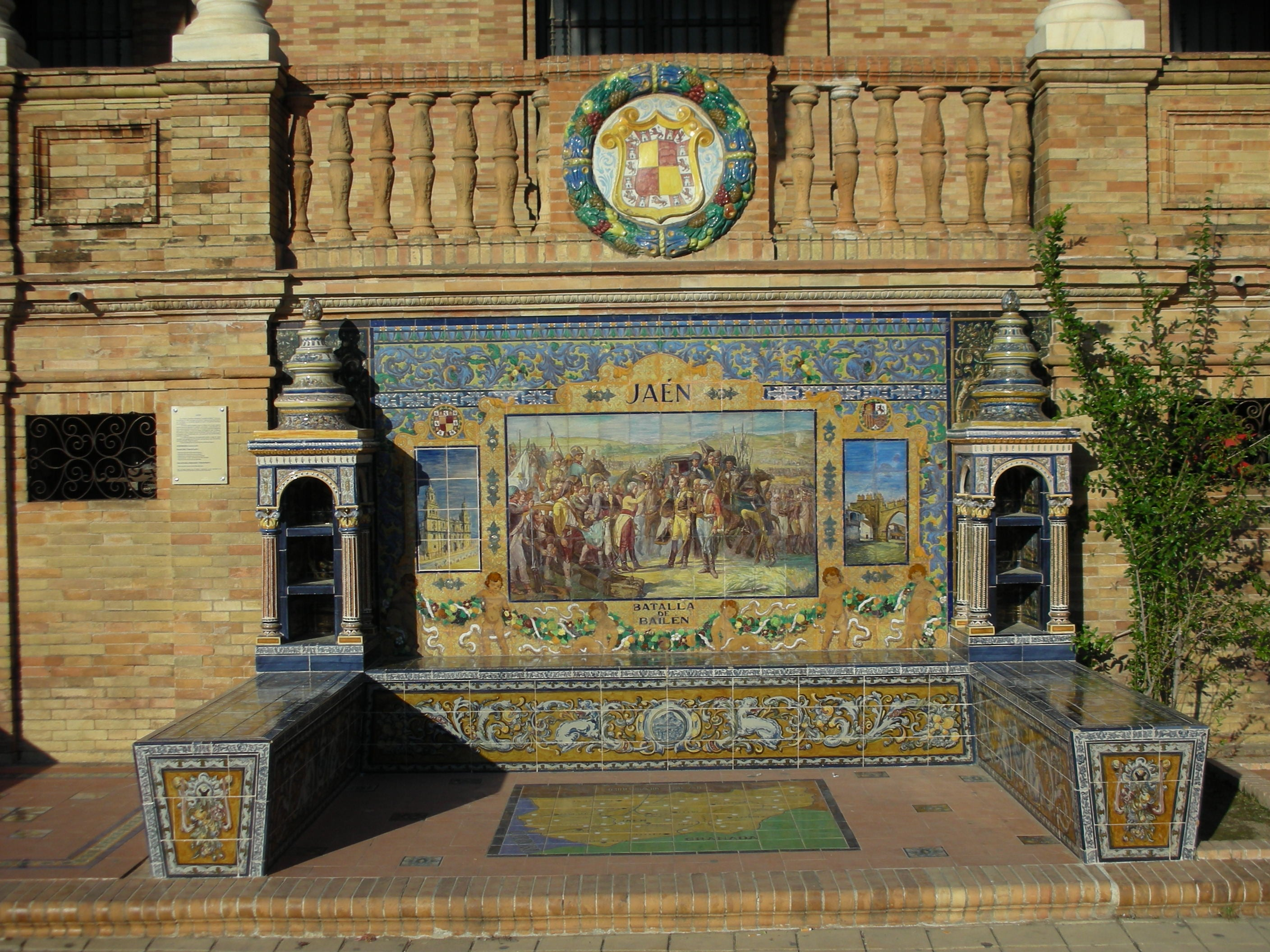 Pared en Plaza de España