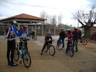 Cycling route in Alagón