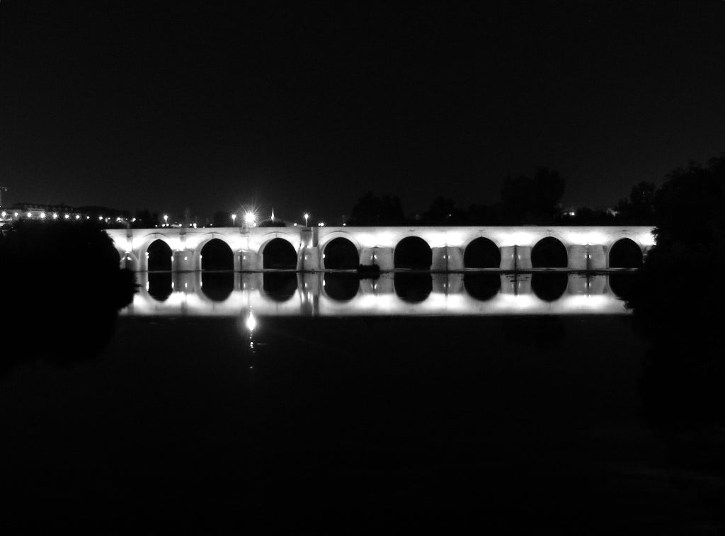 Darkness in Roman Bridge of Córdoba