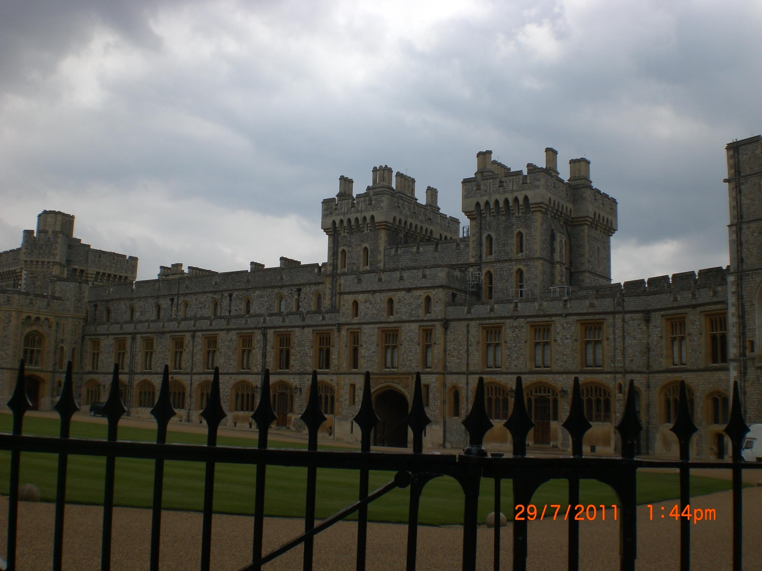 Fachada en Castillo de Windsor