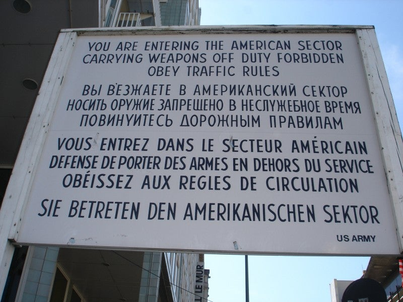 Turismo en Checkpoint Charlie