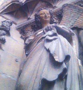 Western facade: The angel of the smile
