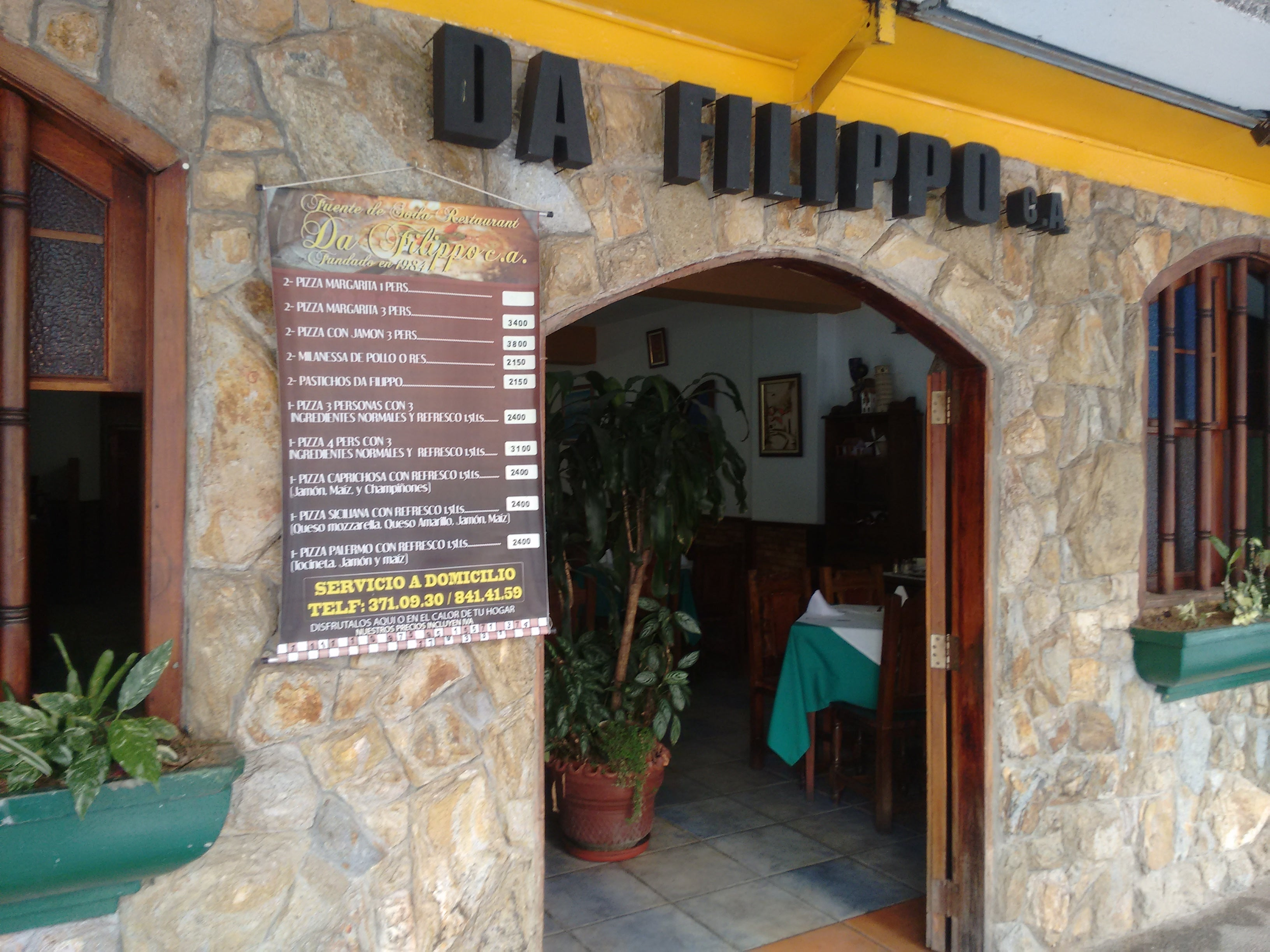 Facade in Restaurant Pizzería Da Filippo