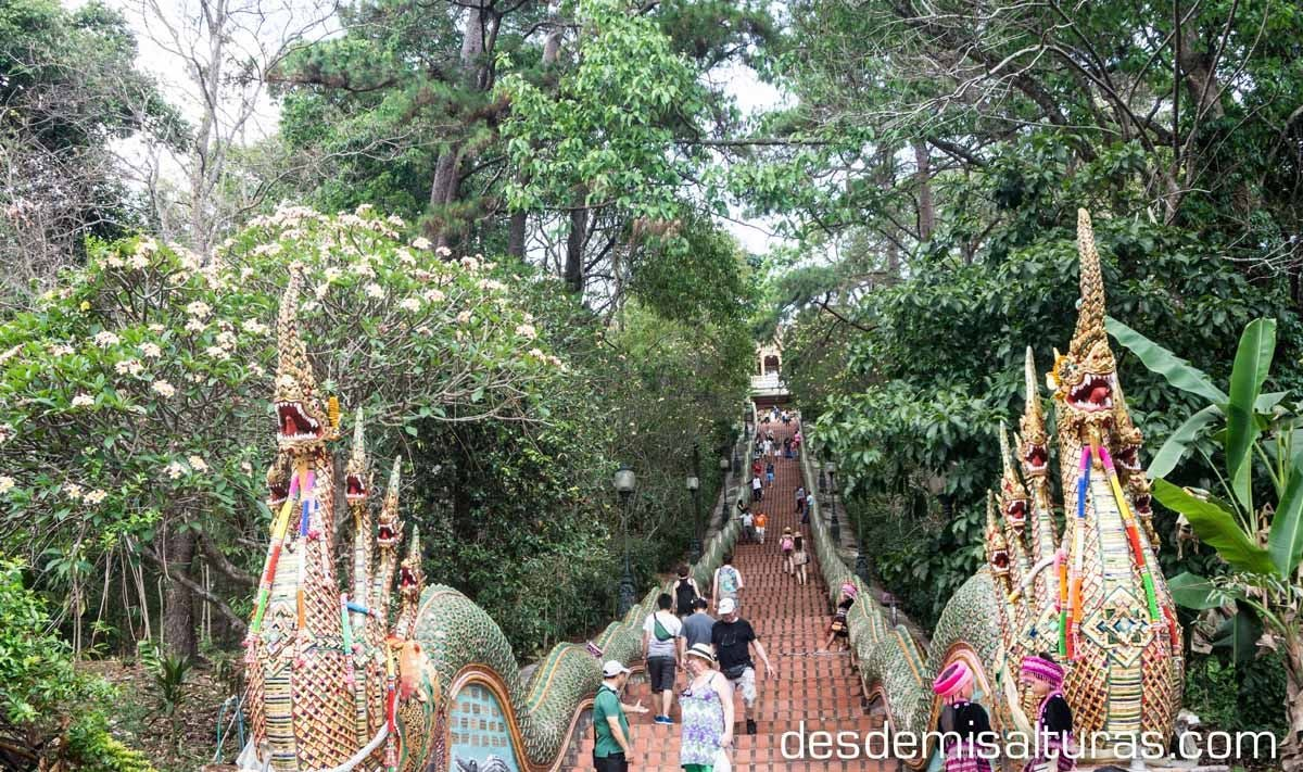 Escaleras Doi Suthep