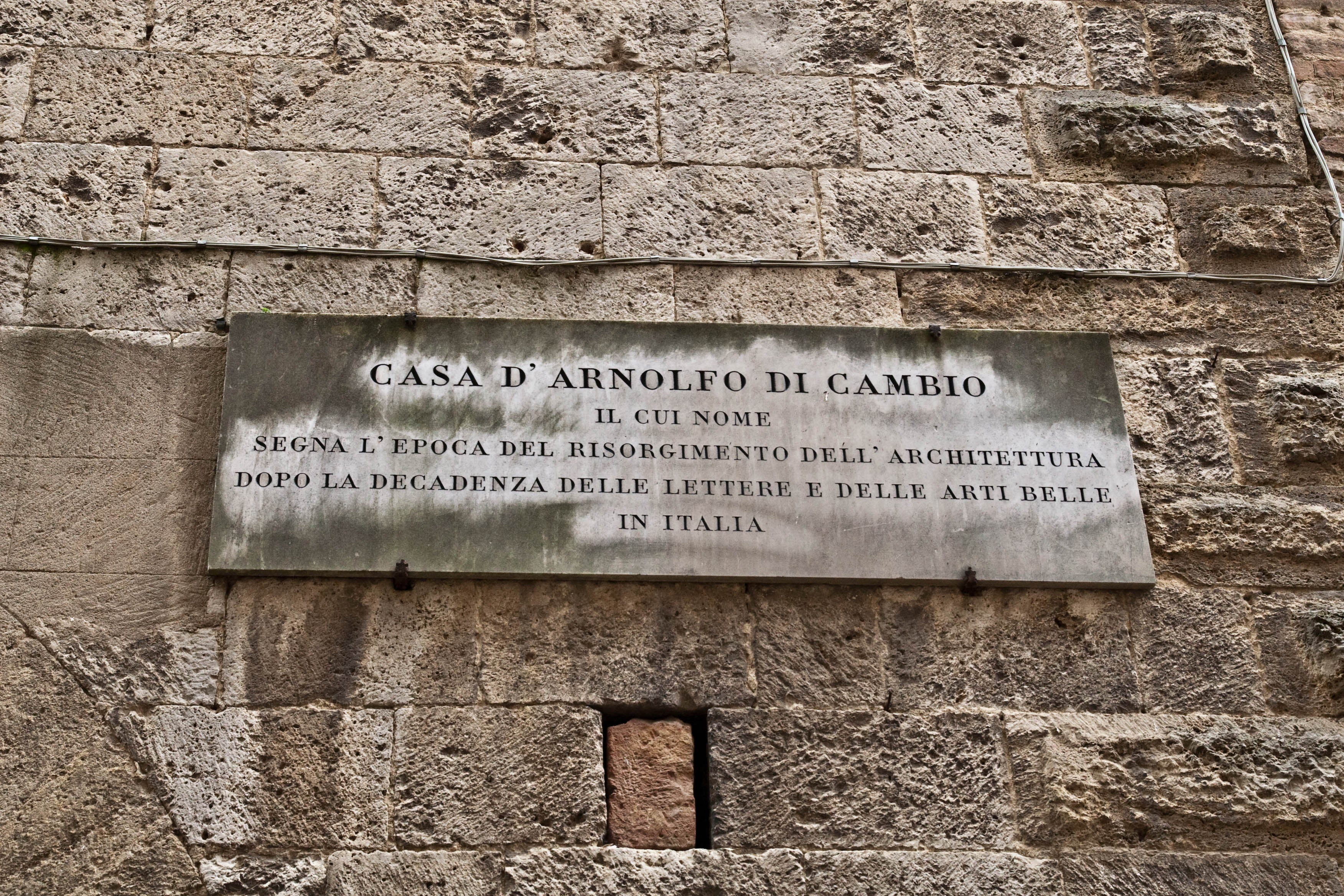 Placa conmemorativa en Colle Val d'Elsa