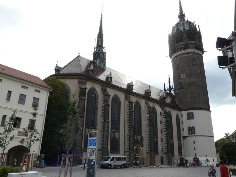Schlosskirche and Martin Luther's tomb