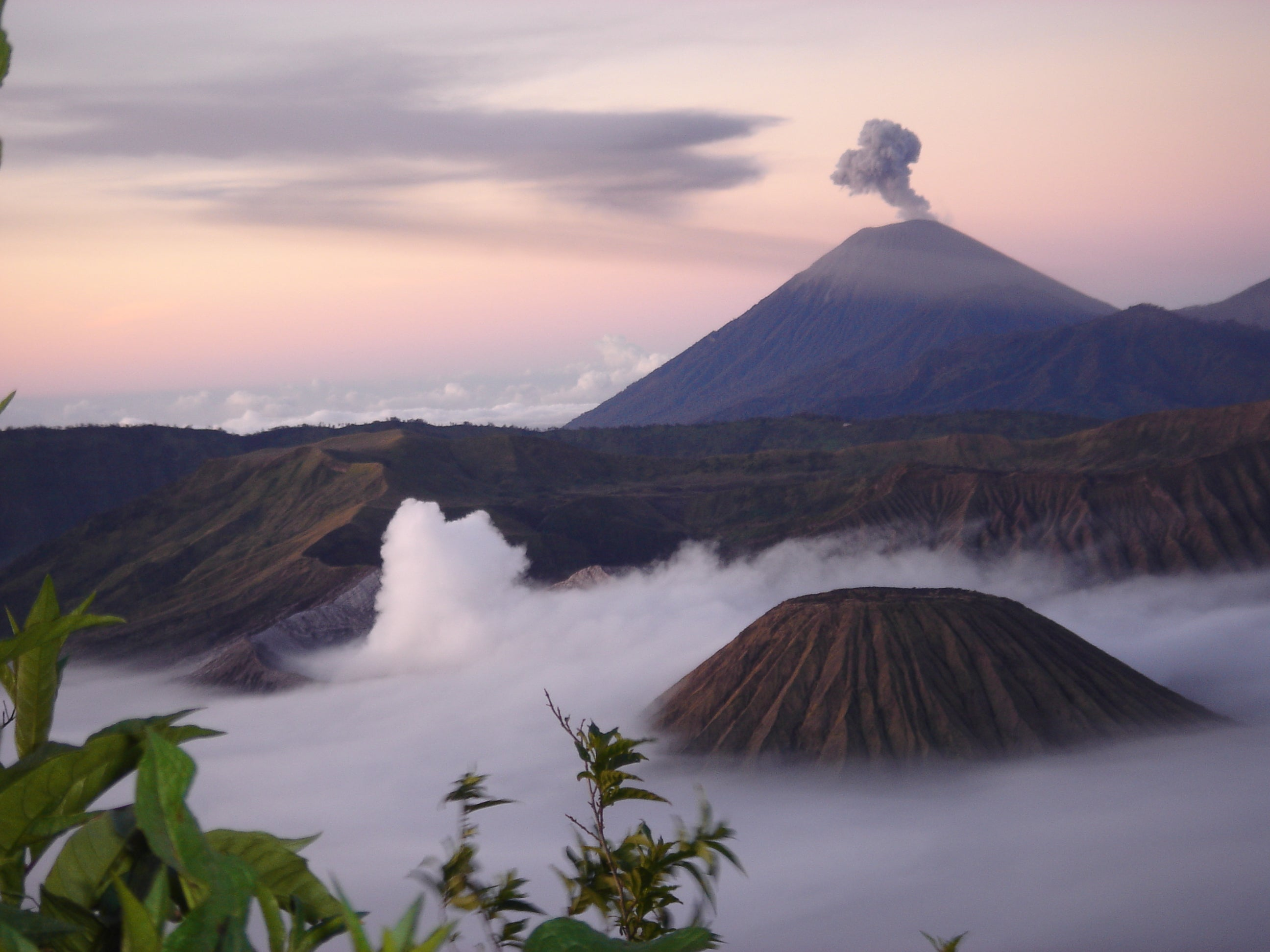 Viewpoint from the Bromo Volcano