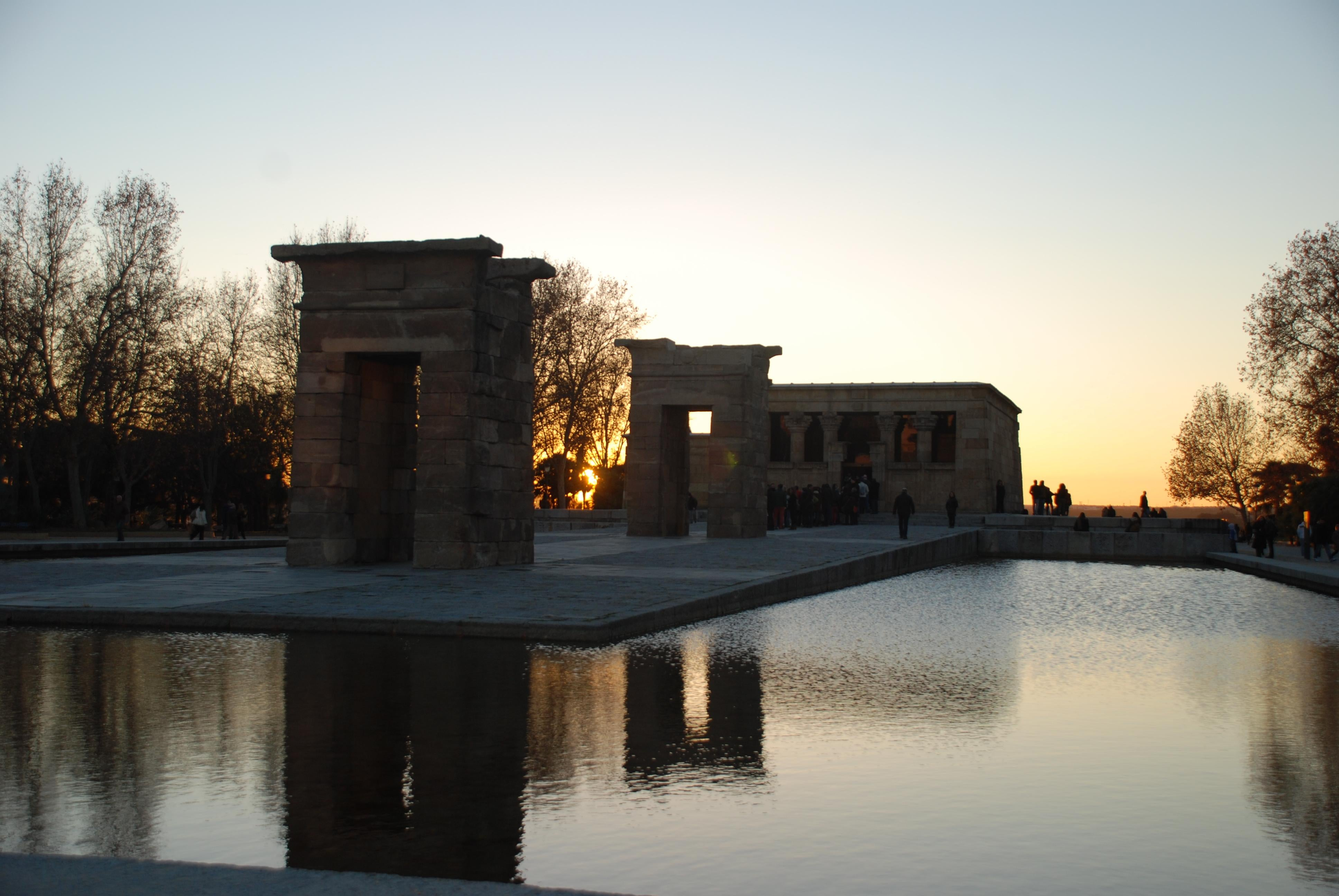 Reflection in Temple of Debod