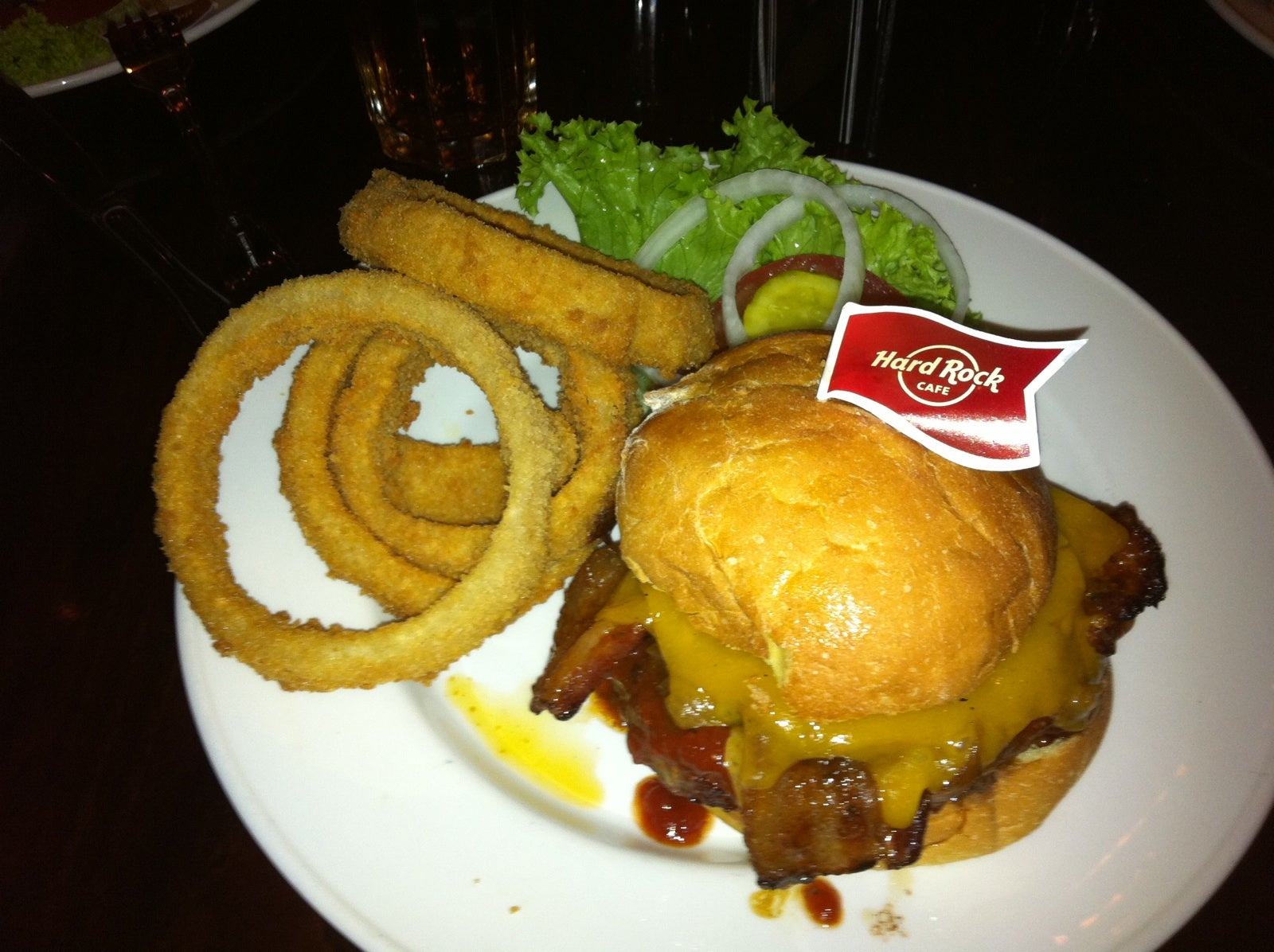 Plato en Hard Rock Cafe Rome