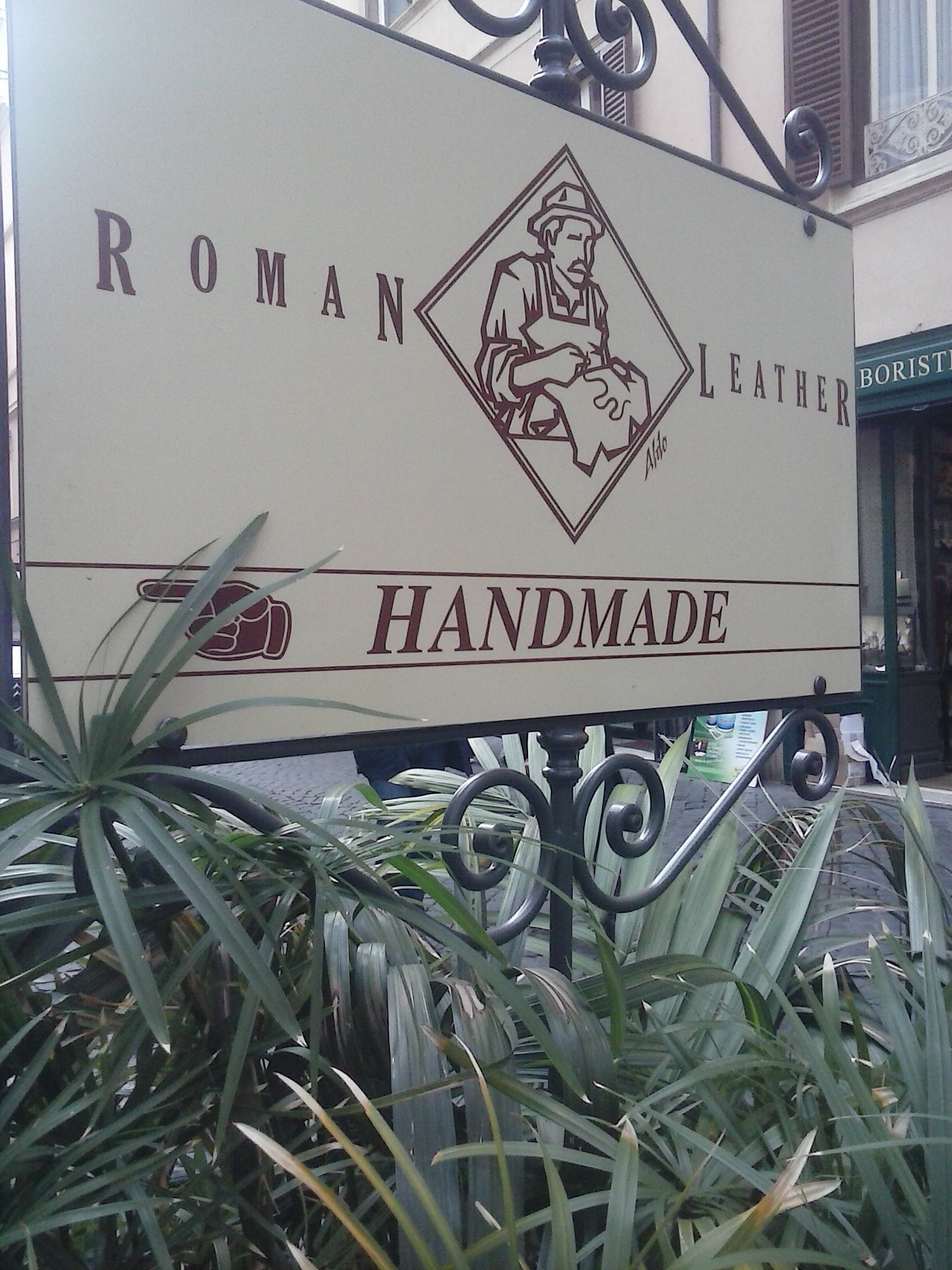 Signage in Leather Craftsman