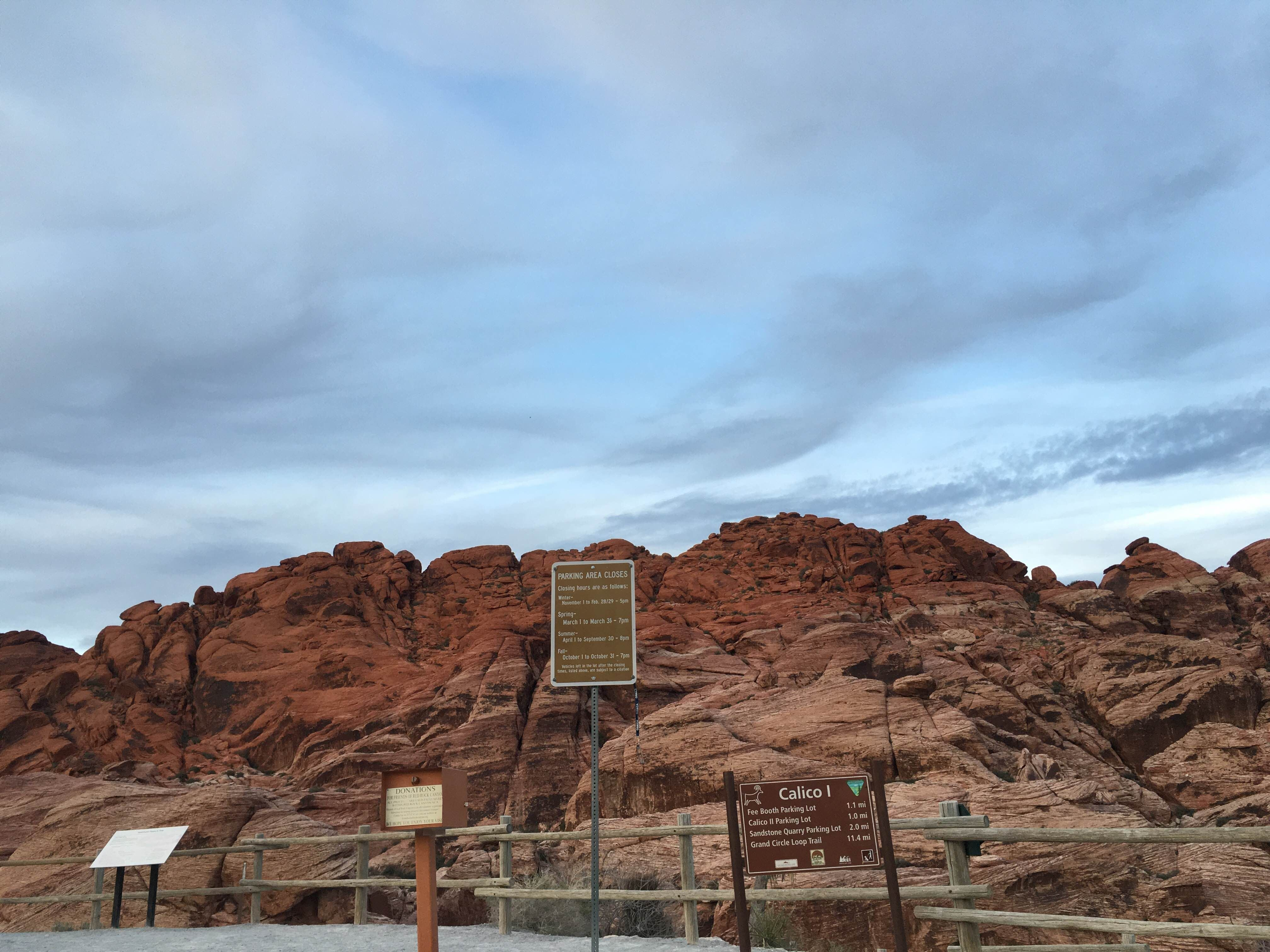 Pared en Red Rock Canyon National Conservation Area