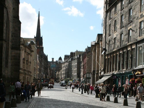 Zona urbana en Royal Mile