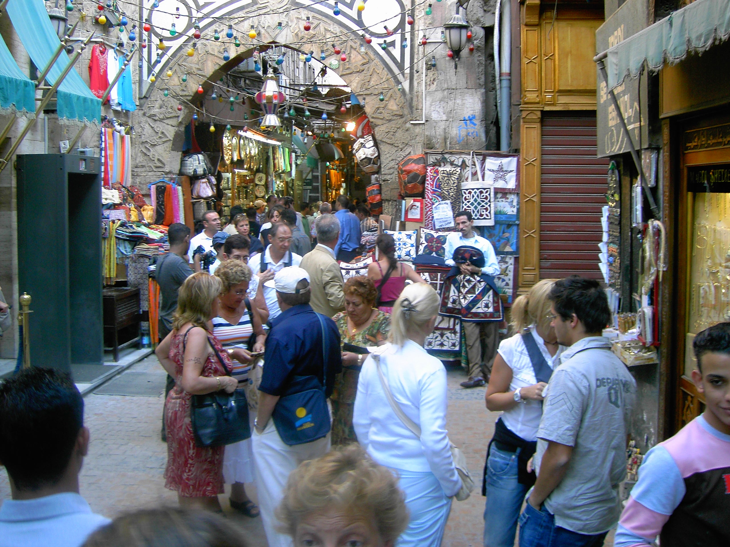 Multitud en Khan el Khalili - Antiguo Bazar
