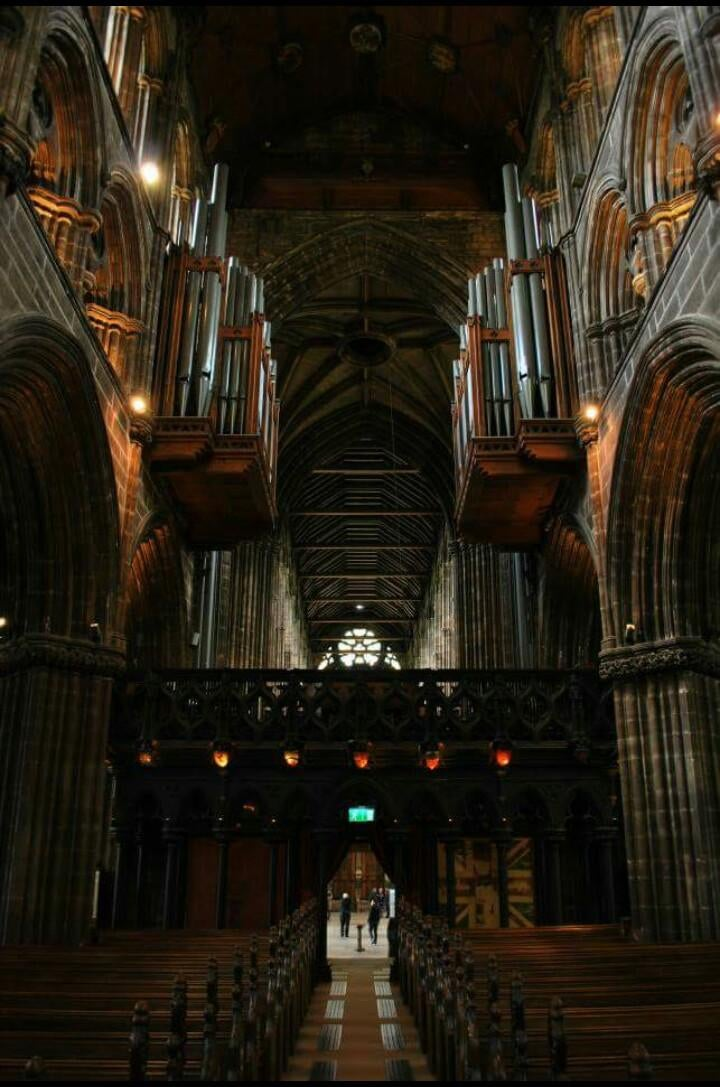 Vidrio en Catedral de Glasgow - High Kirk