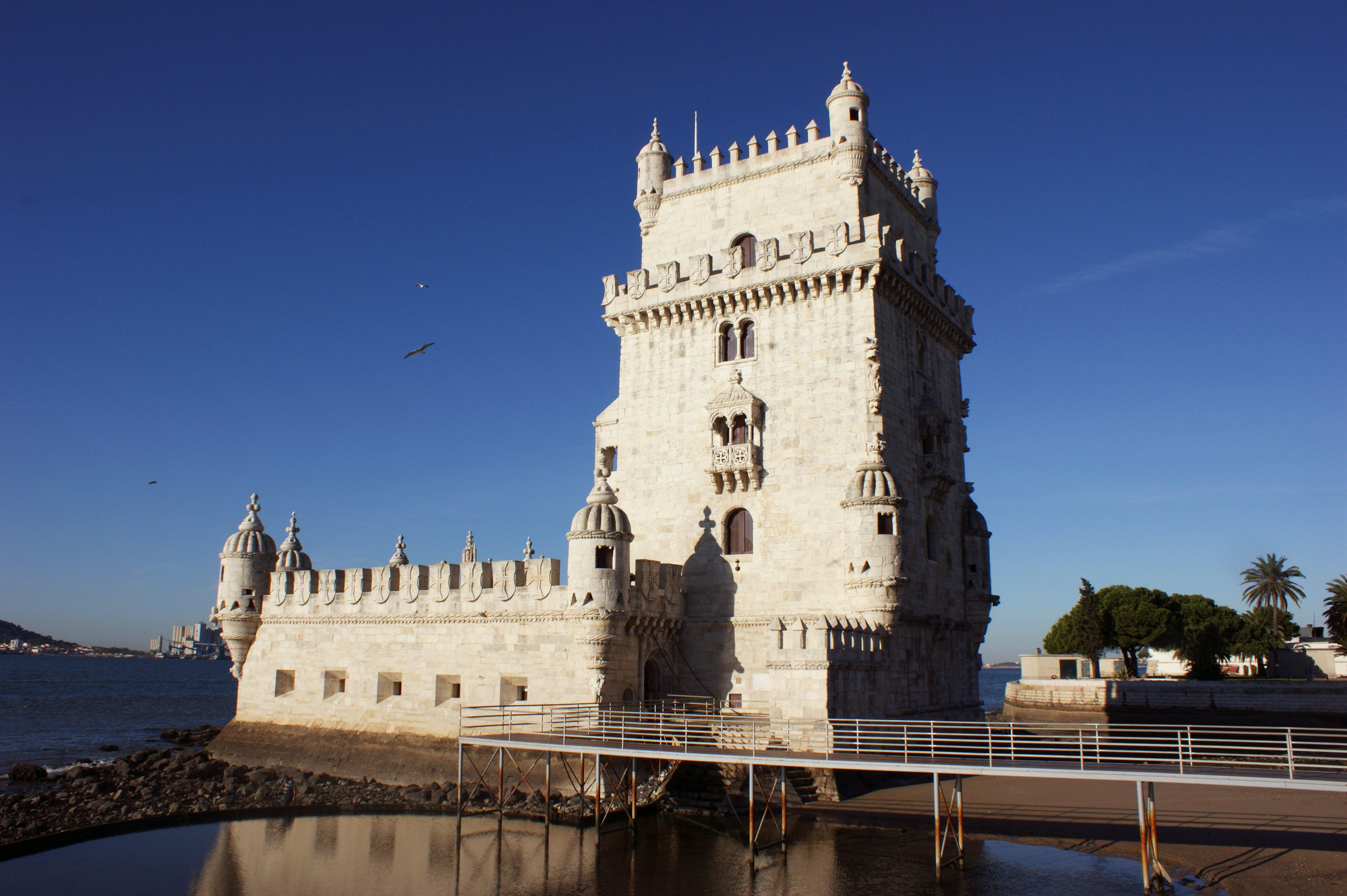 Reflection in Belém Tower