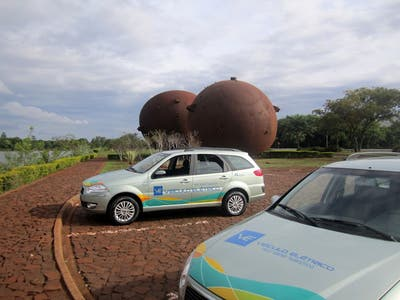 Itaipu Electric Car Test Drive