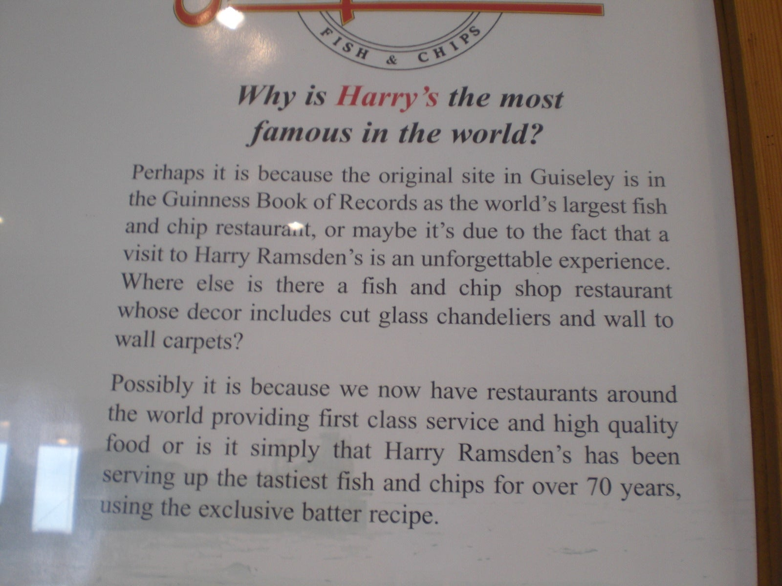 Plato en Harry Ramsdens
