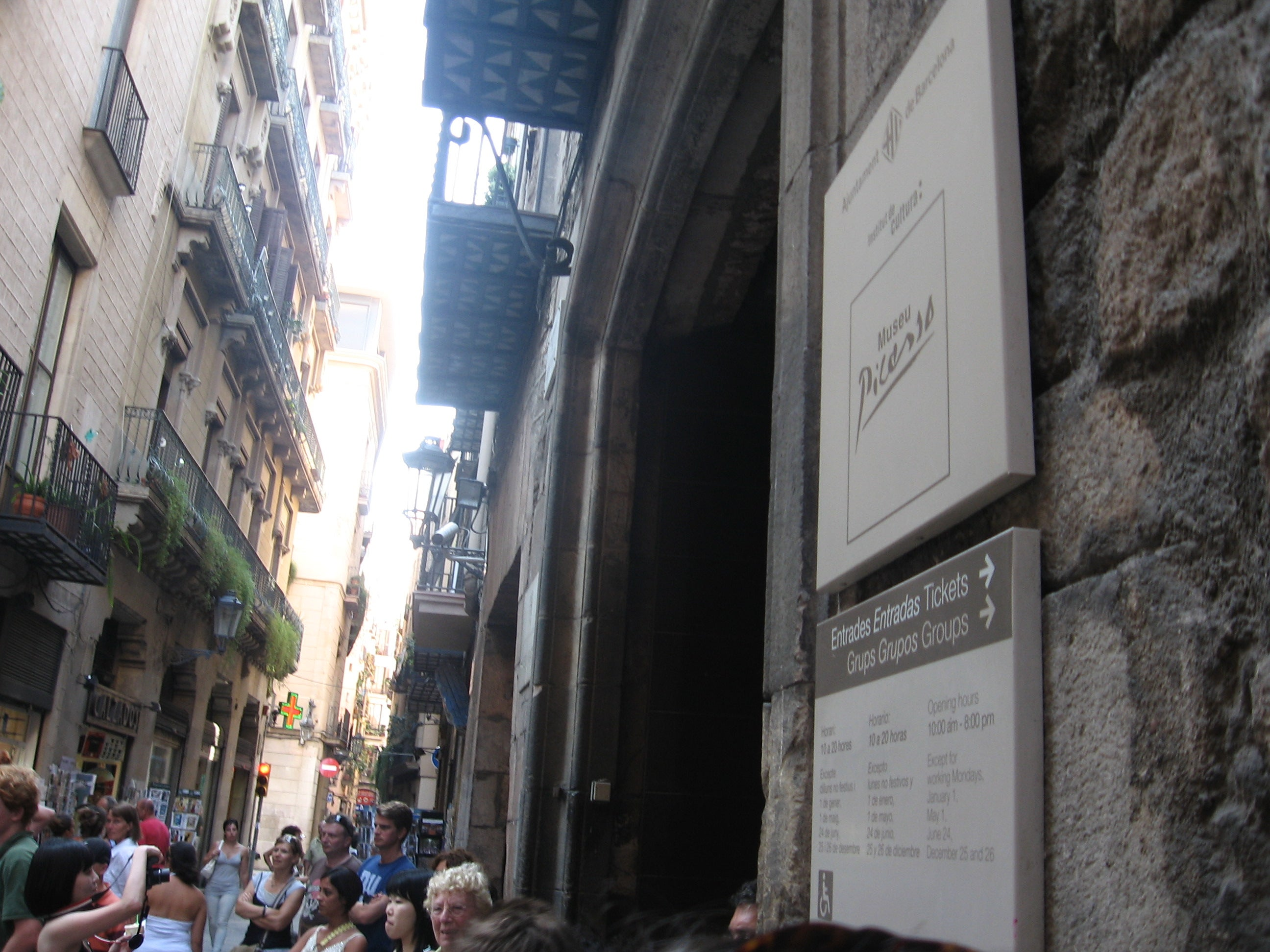 Calle en Museo Picasso