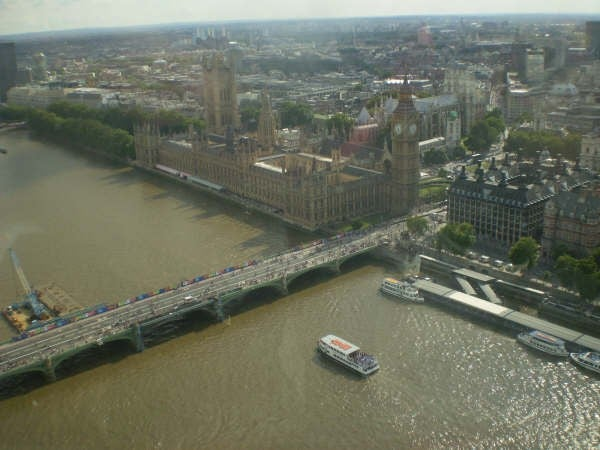 Foto aérea en London Eye