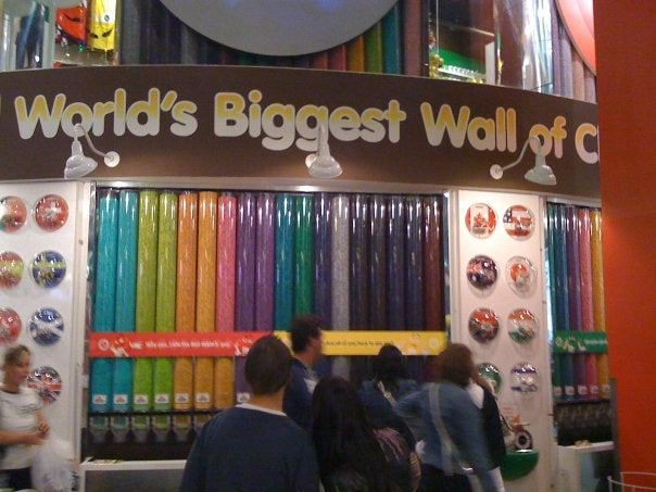 Diseño de interiores en M&M'S World