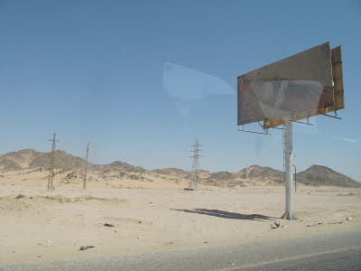Road from Luxor to Hurghada