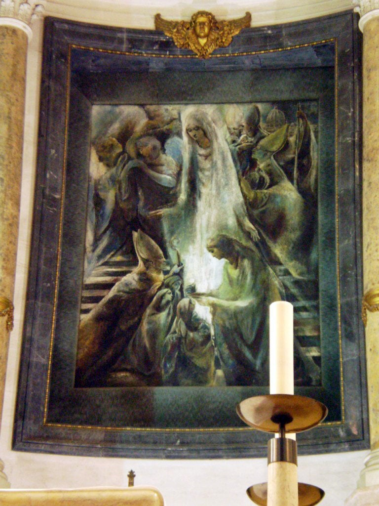 Sculpture in Basilica of Our Lady of the Rosary of Fatima