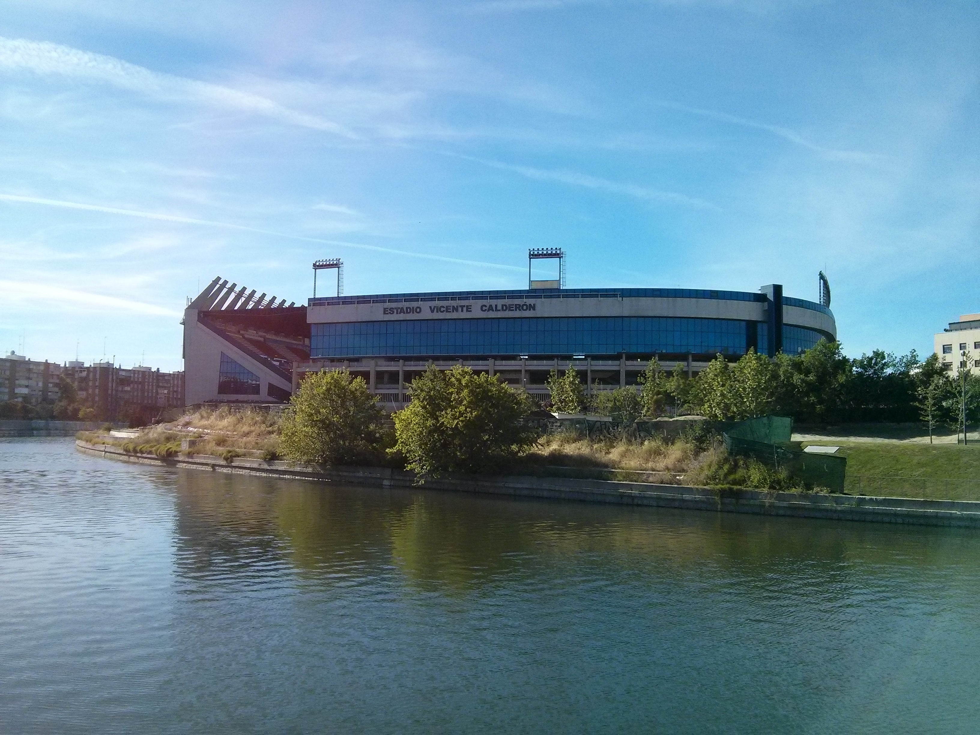 Embalse en Estadio Vicente Calderón