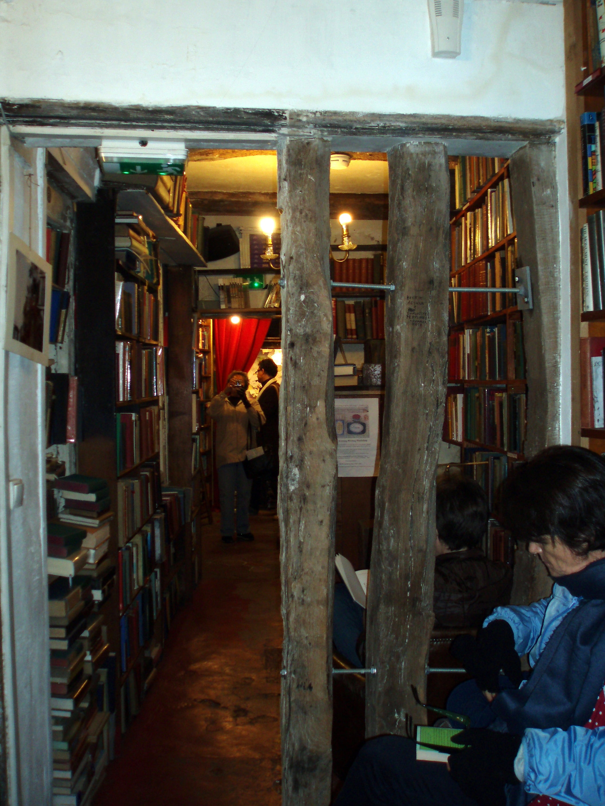 Sala en Shakespeare & Co.