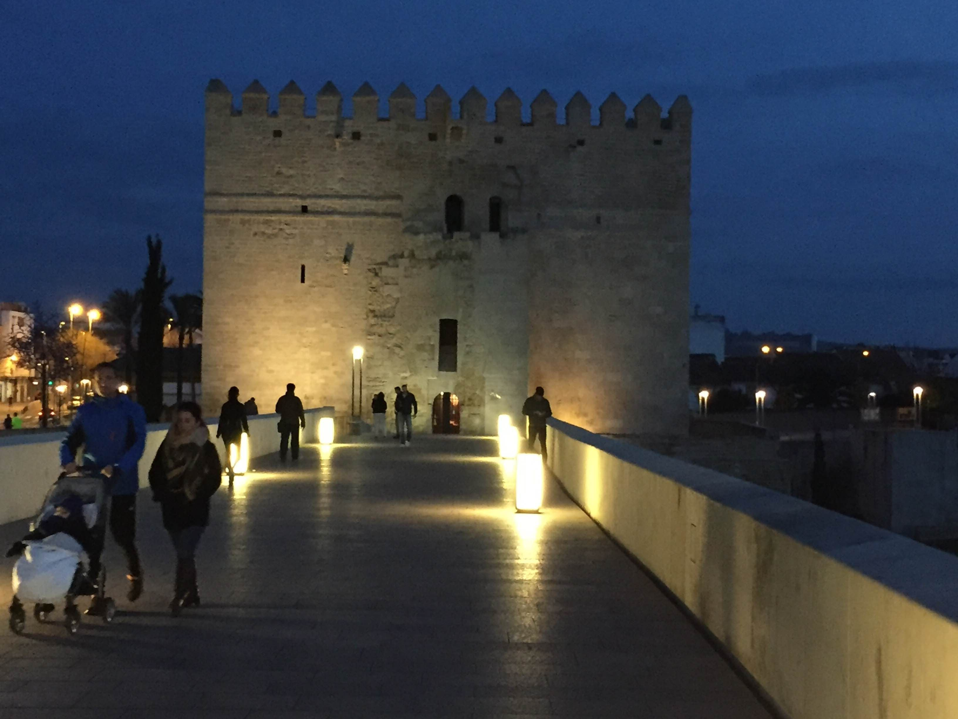 Dusk in Roman Bridge of Córdoba
