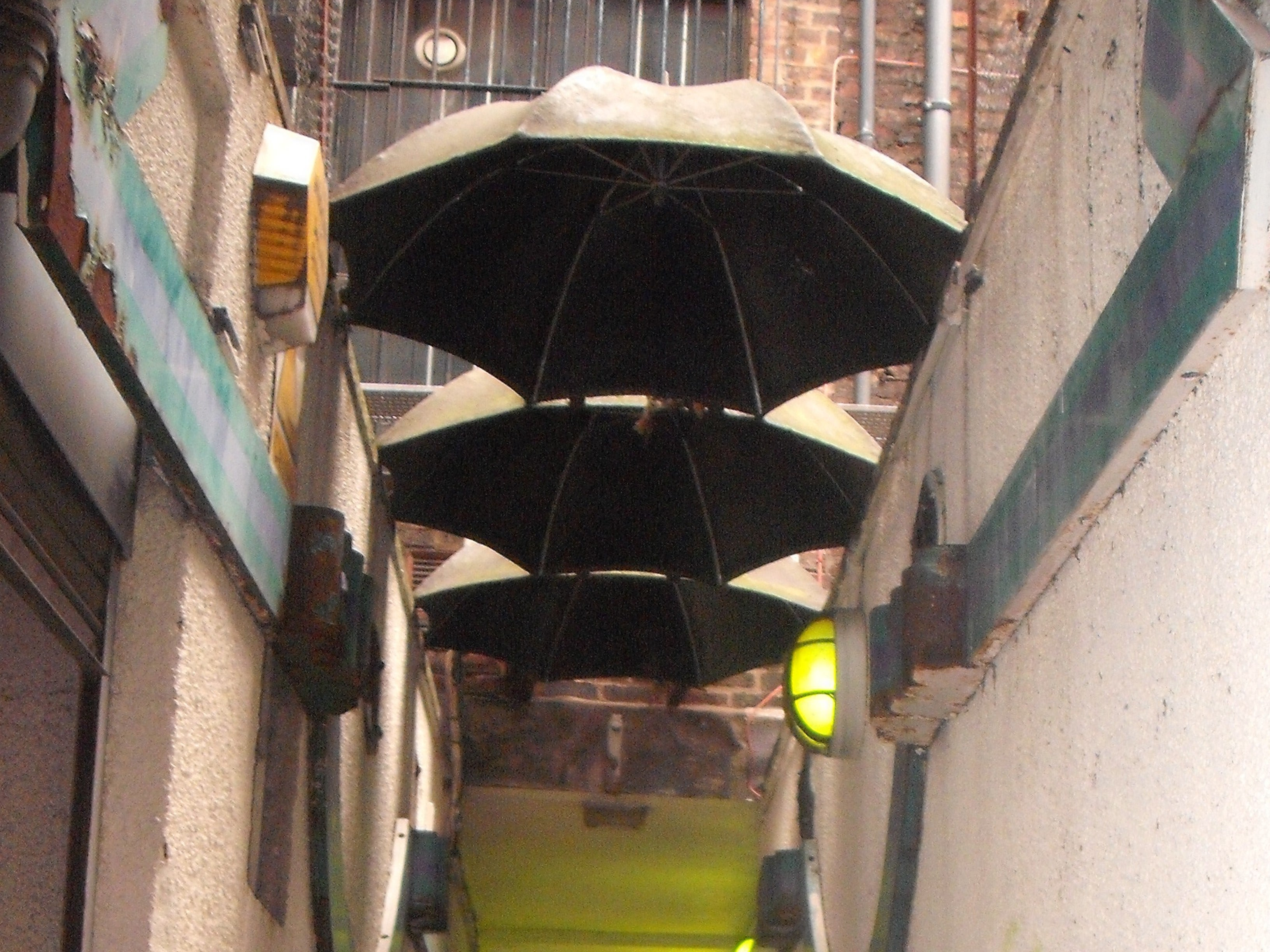 The path to the umbrellas