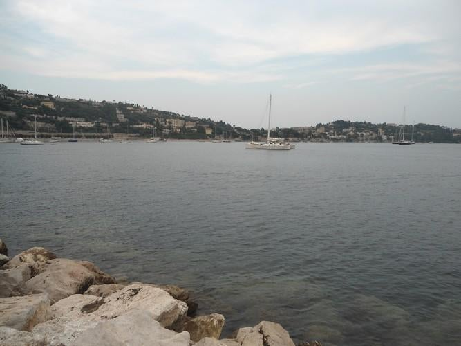 View from the port of Villefranche