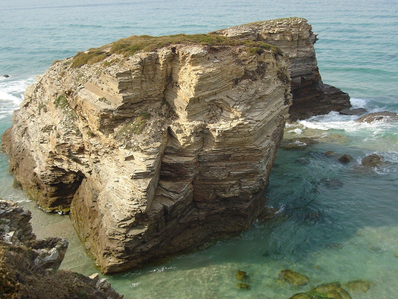 Klippe en Playa de Las Catedrales - As Catedrais