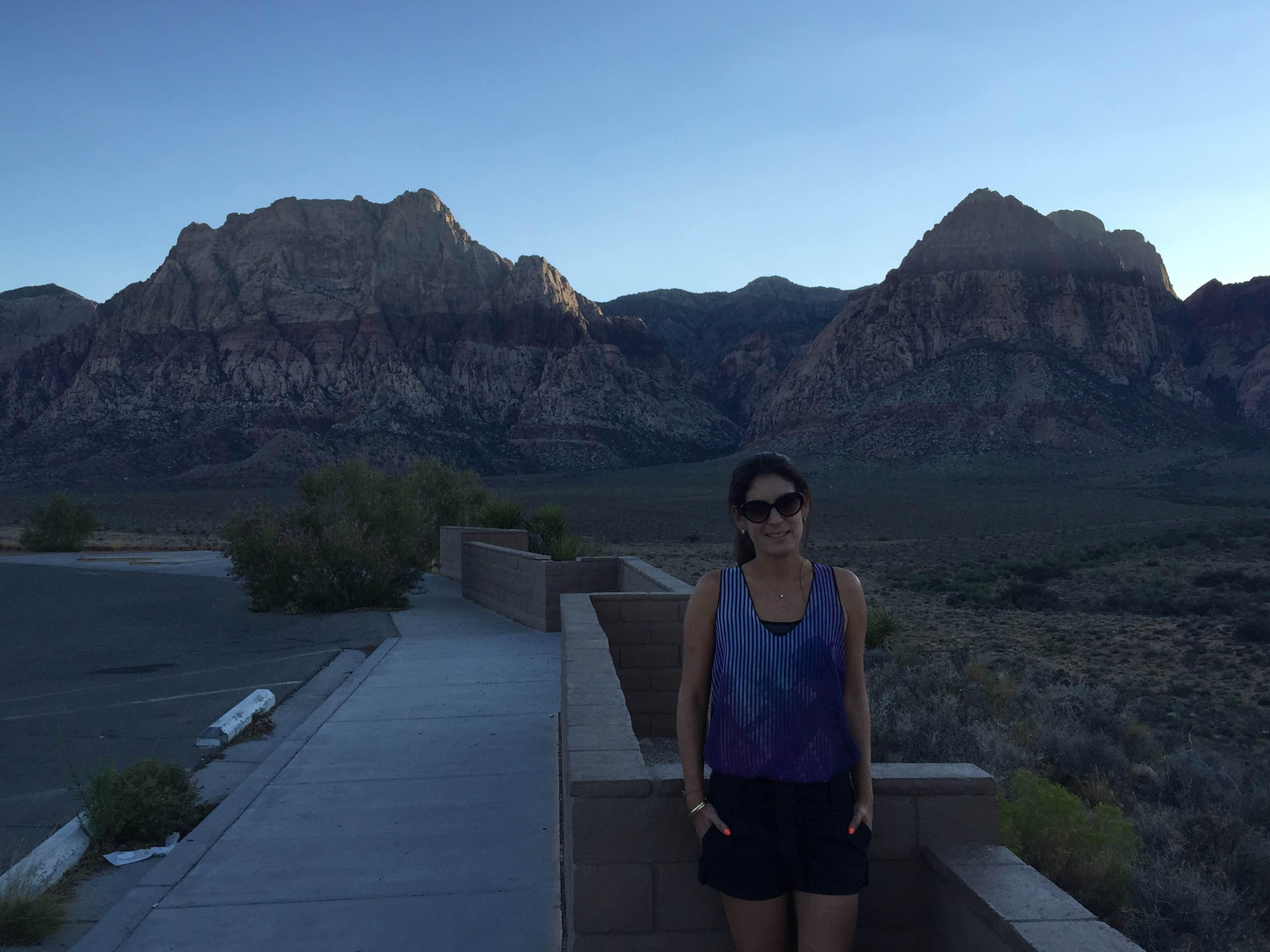 Anochecer en Red Rock Canyon National Conservation Area