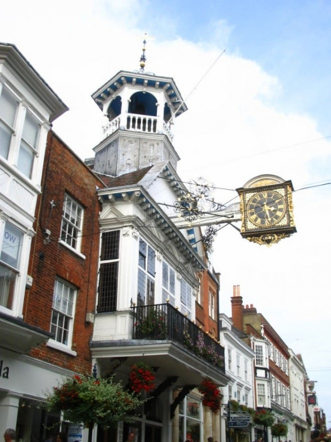 Arquitectura en High Street de Guildford