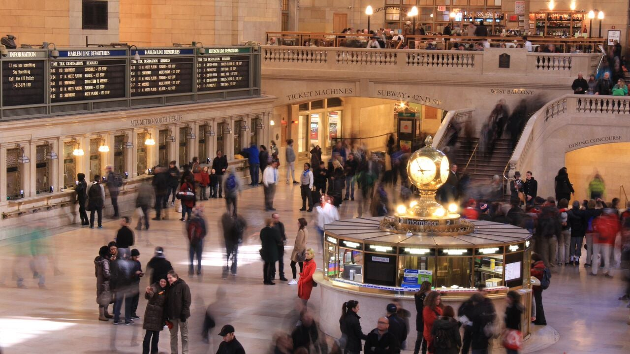Multitud en Grand Central Station