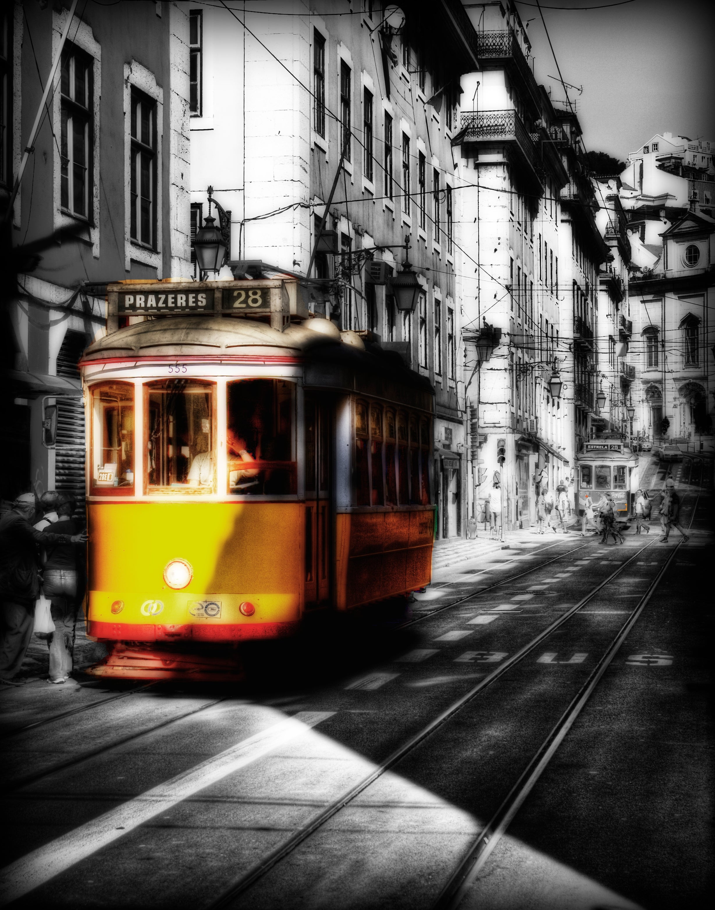 Black And White in Tram 28