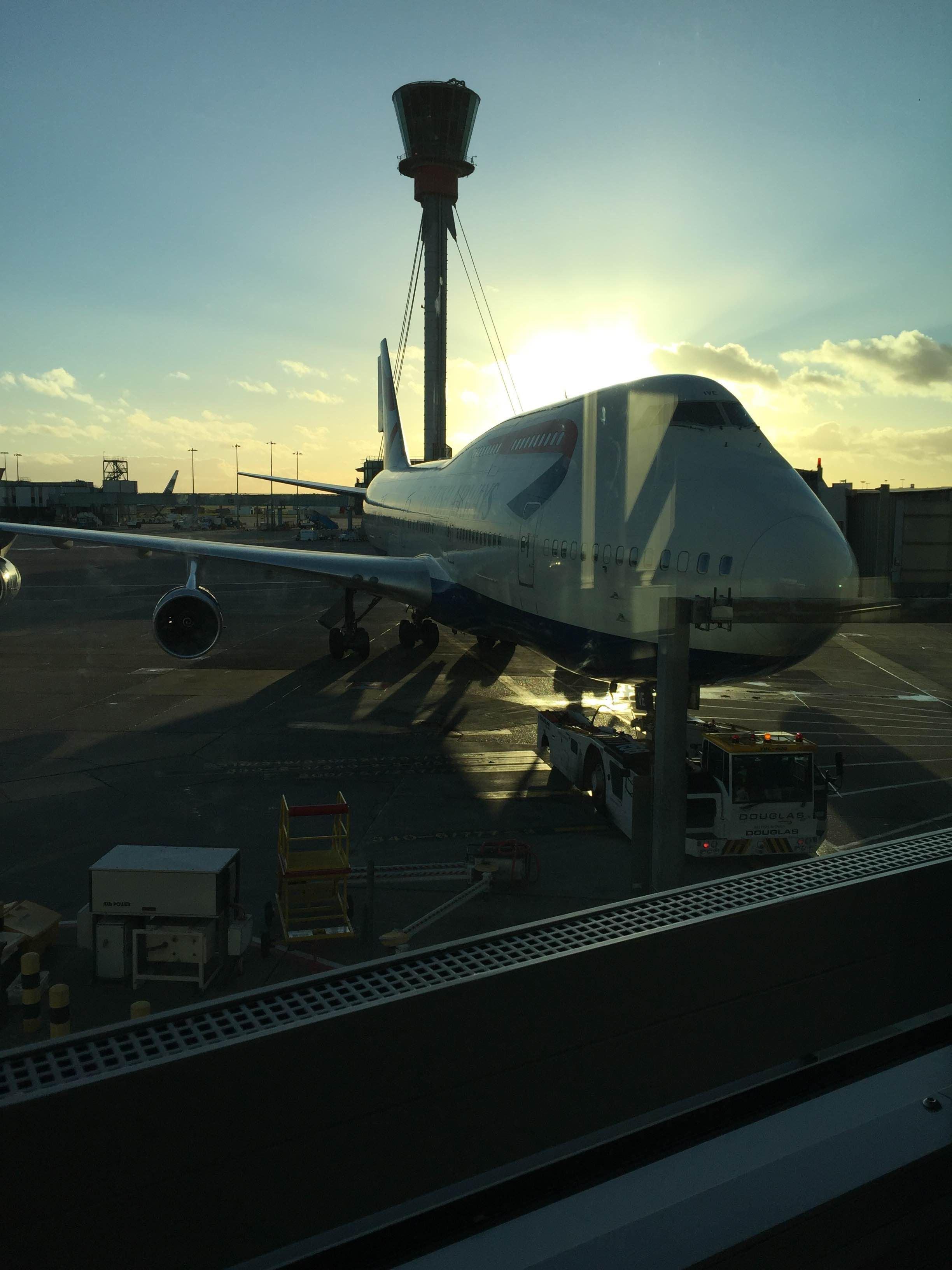 Anochecer en Aeropuerto de Londres - Heathrow
