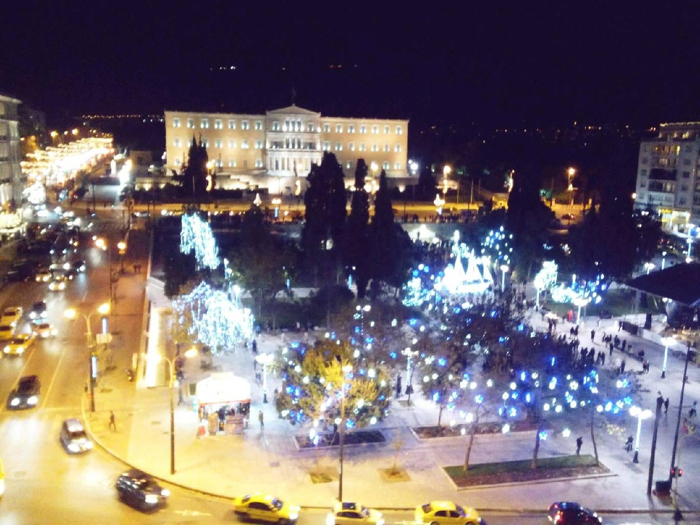 Skyline en Plaza de Syntagma
