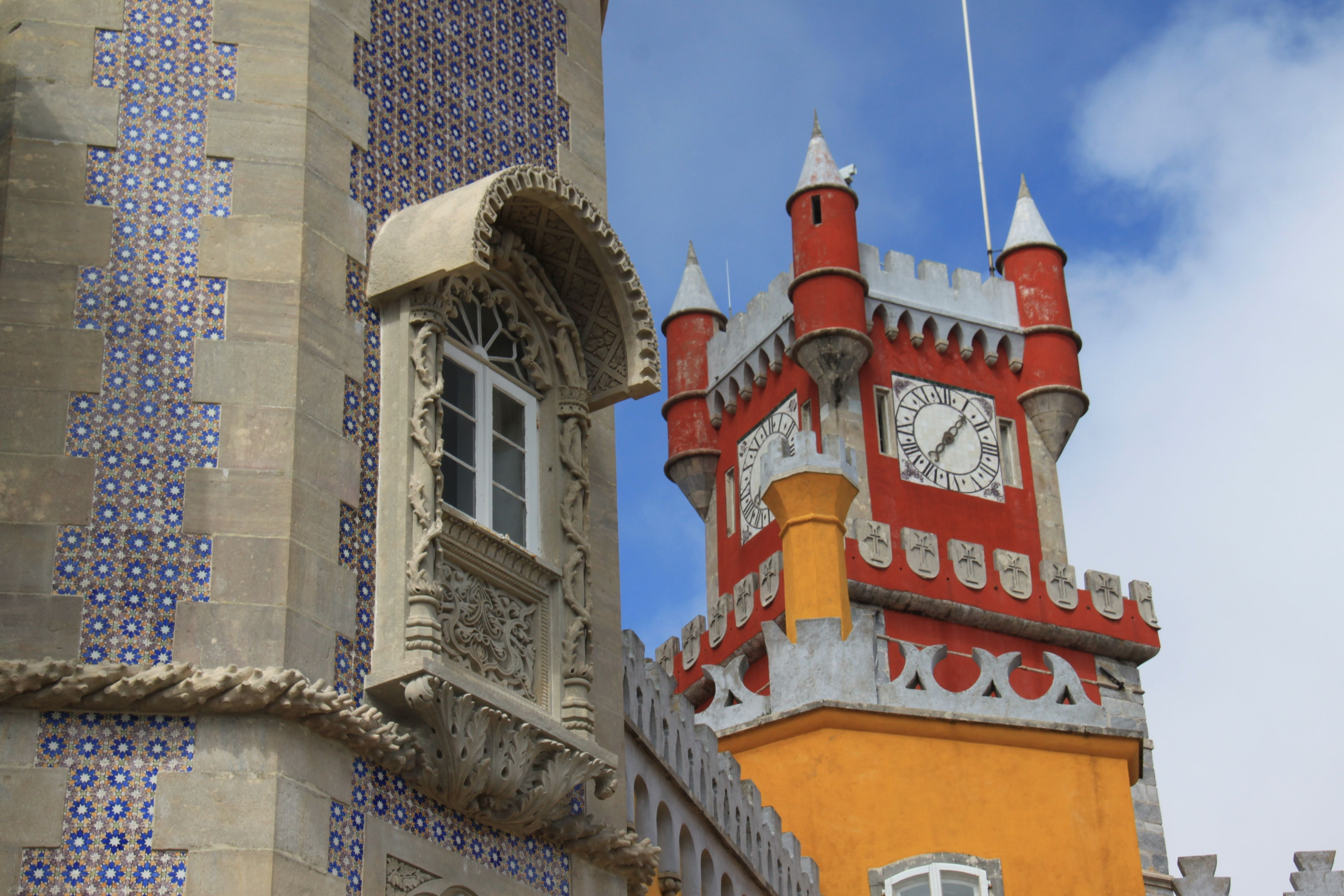 Facade in Pena National Palace