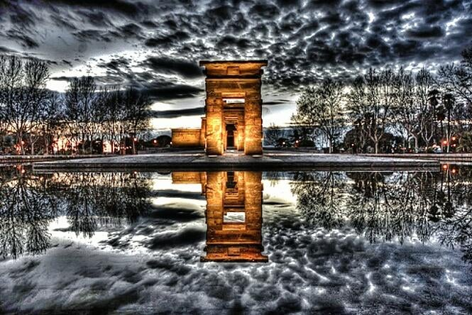 photomontage in Temple of Debod