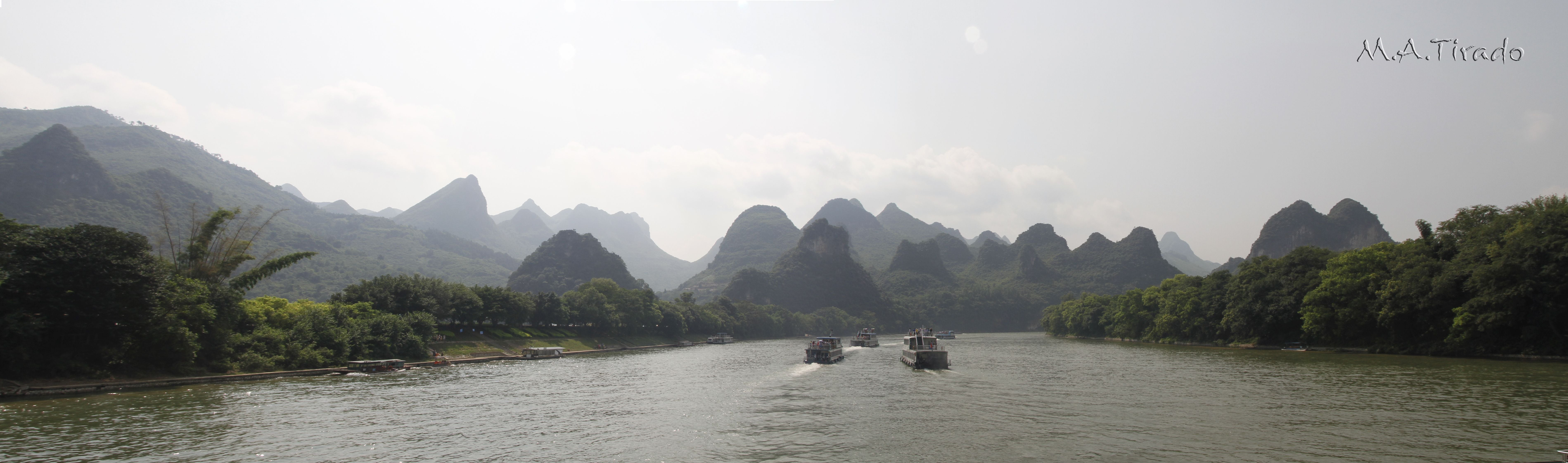 Lago en Guilin