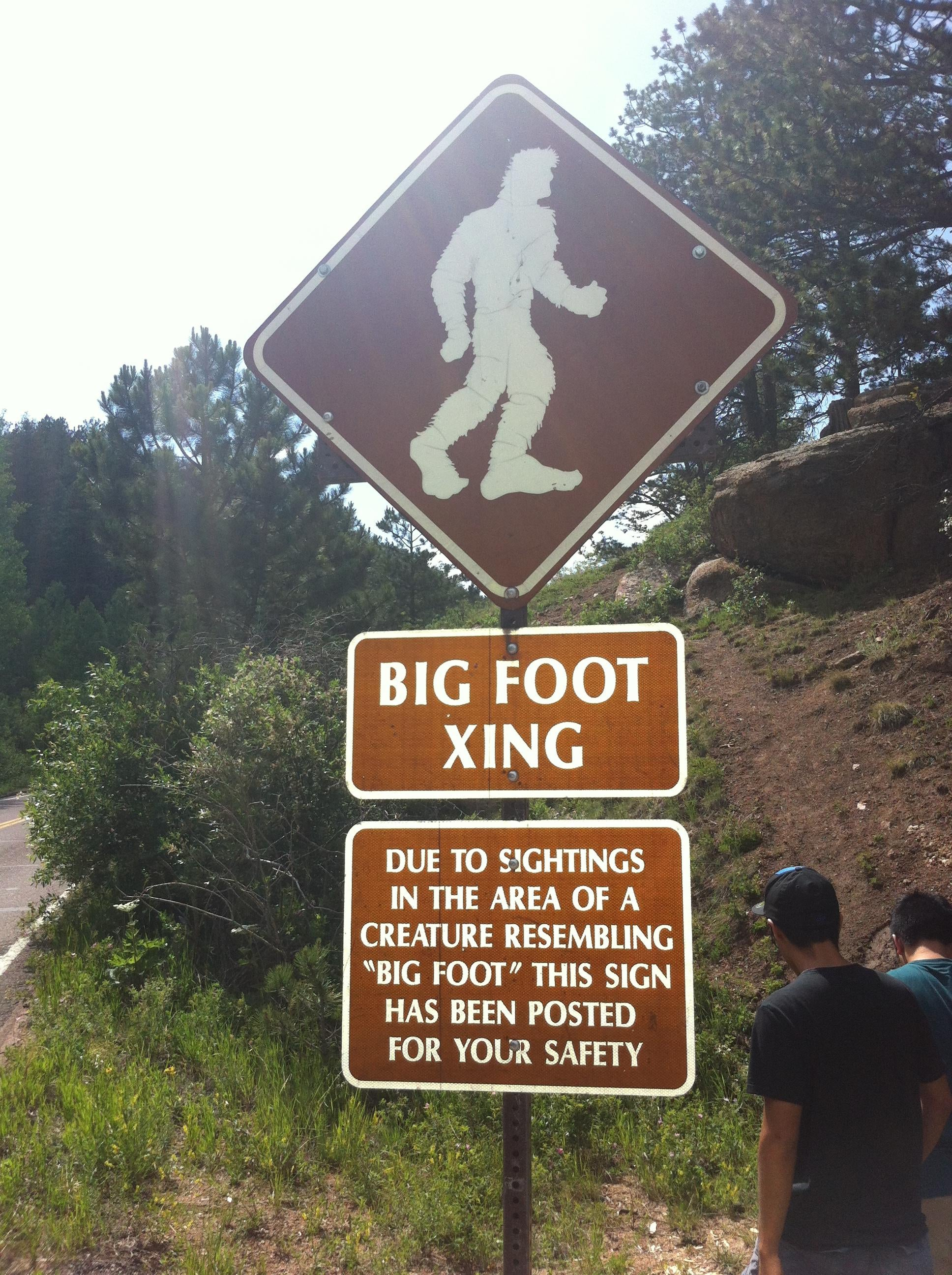 big foot roadside