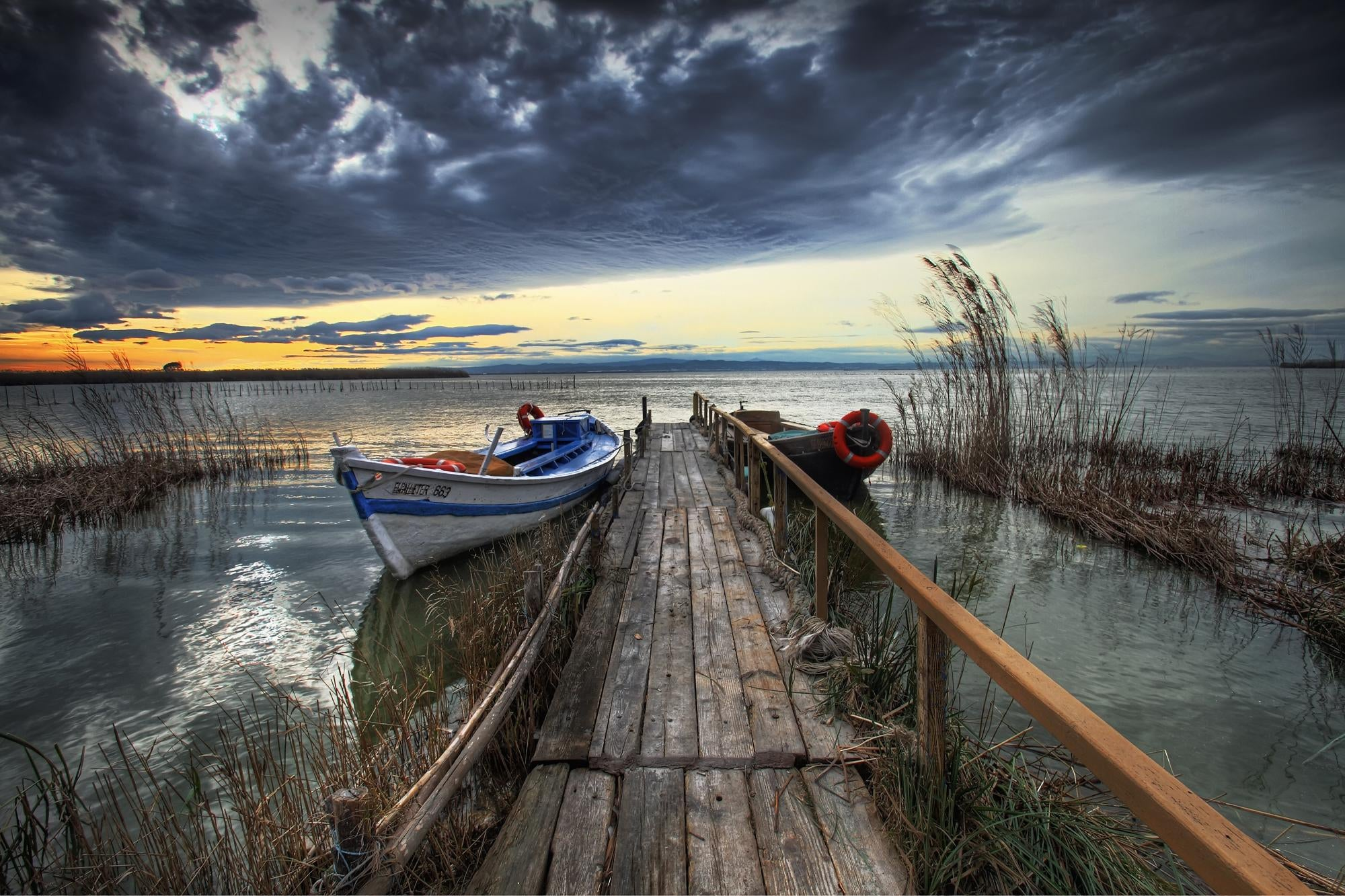 Sea in Albufera Natural Park