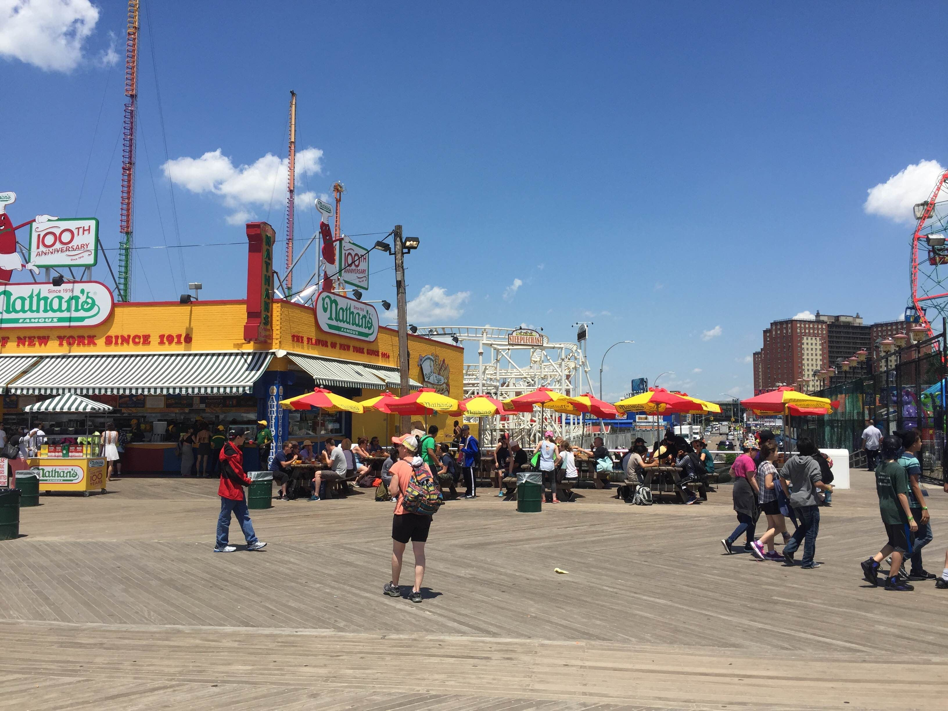 Multitud en Coney Island