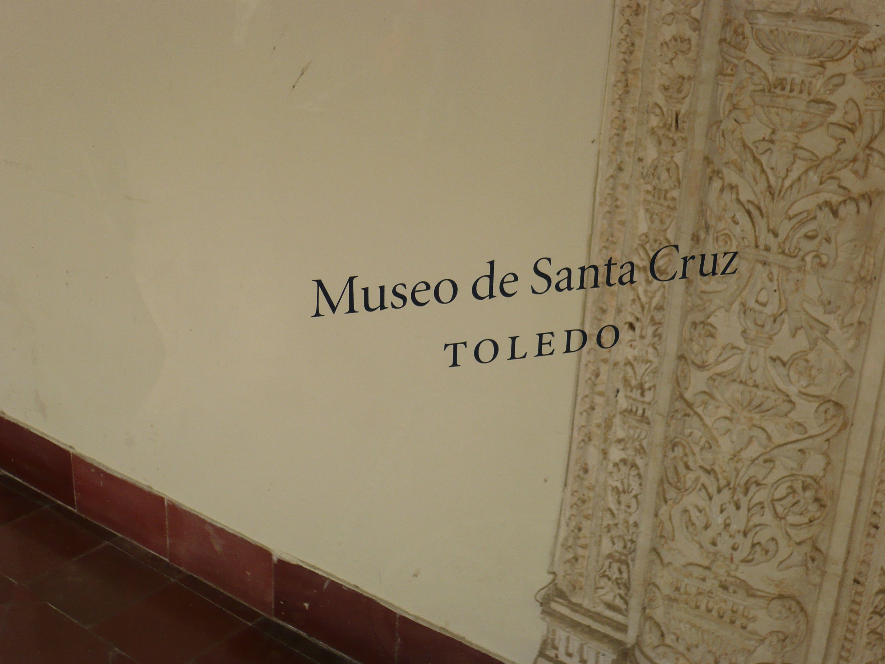 Pared en Museo de Santa Cruz